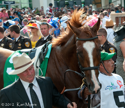 May 5, 2012: The chaos of the paddock before the Kentucky Derby.