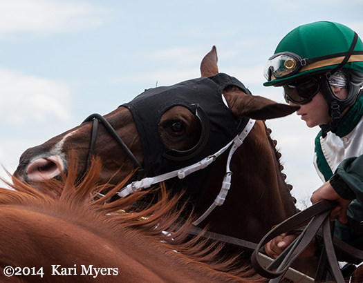 May 1, 2014: Regally Ready and Rosie Napravnik are ready to go!